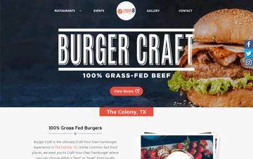 Burger Craft @ Urban8 Web Design