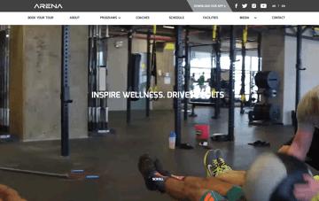Arena Fitness Center Web Design