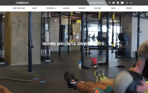 Arena Fitness Center Web Design