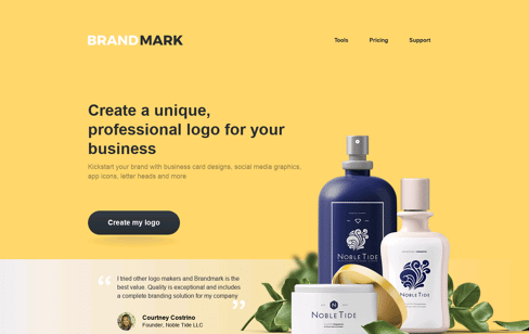 Brandmark - logo design tool Web Design