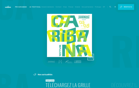 Caribana Festival Web Design