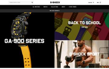 G-SHOCK Web Design