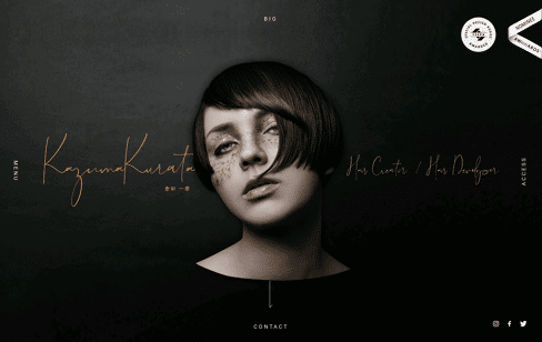 Kazuma Kurata Web Design
