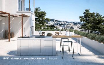 Rock, outdoor kitchen Web Design
