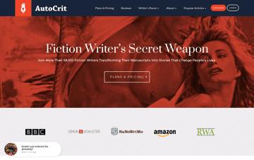 AutoCrit Book Writing Software Web Design