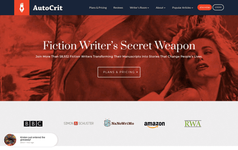 AutoCrit Book Writing Software Web Design