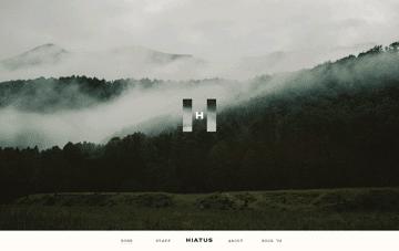 Hiatus website Web Design