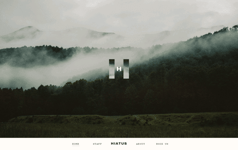 Hiatus website Web Design