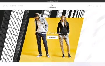 Larkshead fashion website Web Design