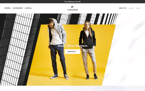 Larkshead fashion website Web Design