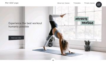 Mat Rebel Yoga website Web Design