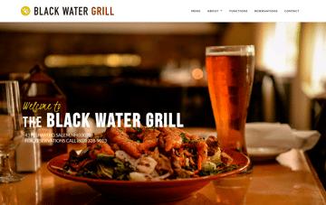 Black Water Grill website Web Design