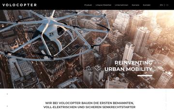 Volocopter Web Design