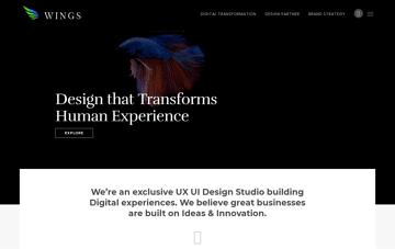 Wings Design UI/UX Design Company Web Design