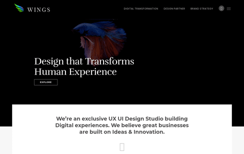 Wings Design UI/UX Design Company Web Design