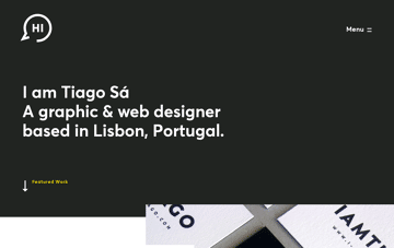 I am Tiago Graphic & Web Designer Web Design