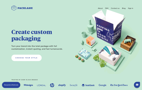 Packlane Web Design