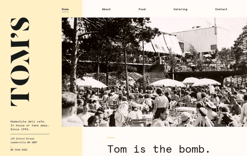 Tom's Wholesome Food Web Design