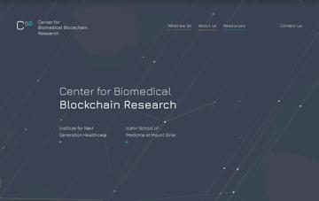 Center for Biomedical Blockchain Web Design