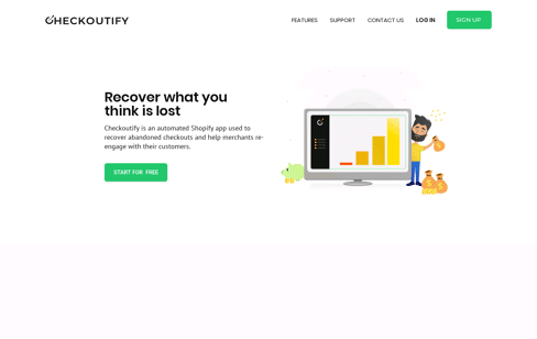 Checkoutify Web Design