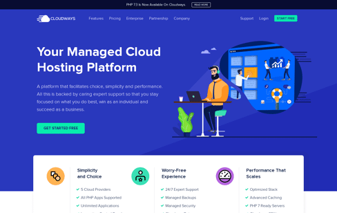 Cloudways Managed Cloud Hosting Web Design