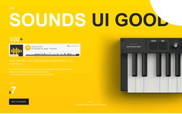 Sounds UI Good Web Design