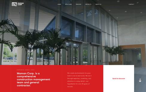 Maman Corp Web Design