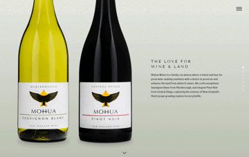 Mohua Wines Web Design