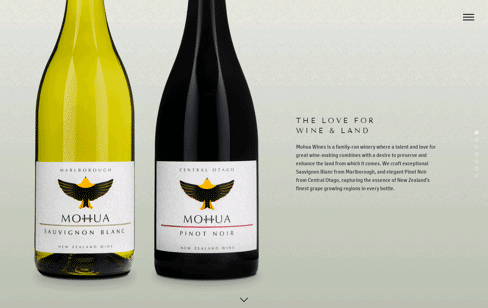 Mohua Wines Web Design