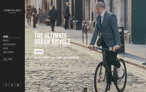 Urbanized Urban Bicycle Web Design