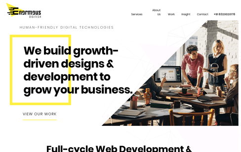 Enormous DigiTech Web Design