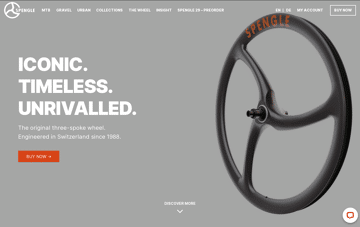 SPENGLE Carbon Wheels Web Design