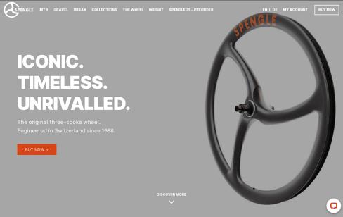 SPENGLE Carbon Wheels Web Design