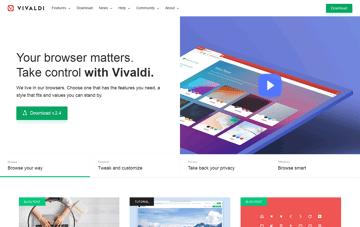 Vivaldi Browser Web Design