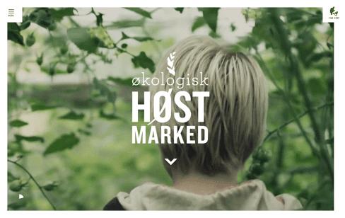 Økologisk Høstmarked Web Design