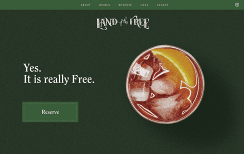 Land of the Free Web Design