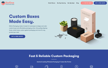 Refine Packaging Web Design