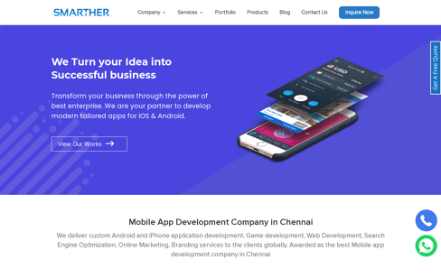 Smarther Website & Mobile Development Web Design