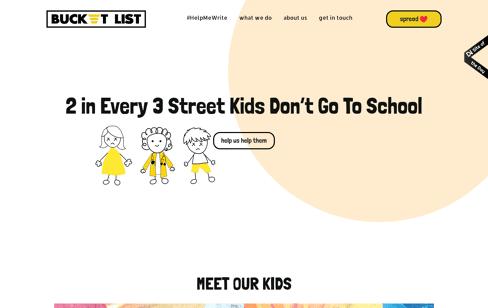 Bucket List Web Design