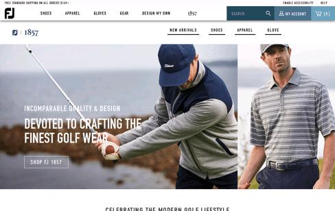 FJ 1857 Golf Shop Web Design