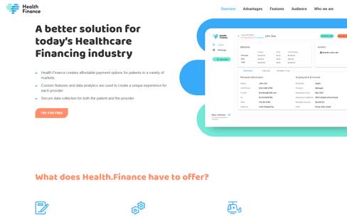 Health Finance Web Design
