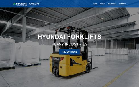 Hyundai Forklifts Web Design