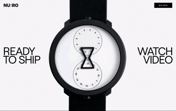 NU:RO Watch Web Design