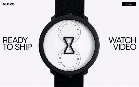NU:RO Watch Web Design