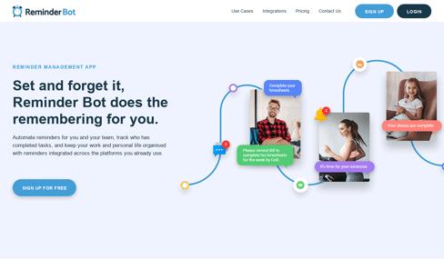 Reminder Bot Web Design