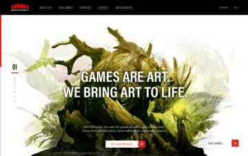 ArenaNet Web Design