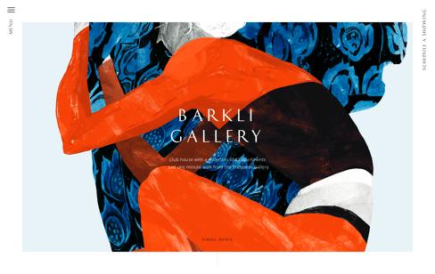 Barkli Gallery Web Design