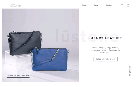Lustone Leather Bags Web Design