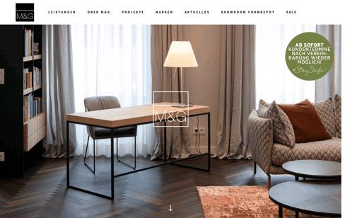 M&G Innenarchitektur und Bauplanungs Web Design