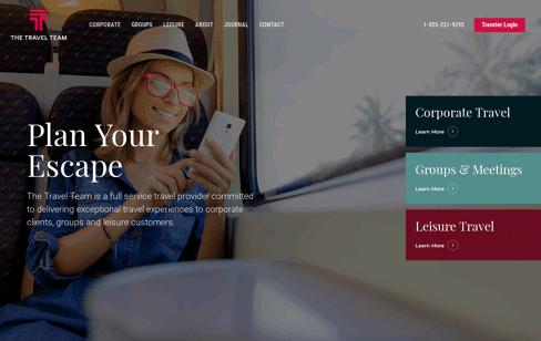 The Travel Team Web Design